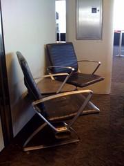 Chairs at an angle, SFO