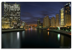 Dubai Marina @ Dusk (DanielKHC) Tags: longexposure water night digital marina buildings reflections high construction bravo dubai dynamic sony united emirates arab alpha range dri increase hdr a100 blending themoulinrouge dynamicrangeincrease blueribbonwinner firstquality supershot 6exp tamron1118mm danielcheong goldenphotographer diamondclassphotographer megashot danielkhc theperfectphotographer gettyimagesmeandafrica1
