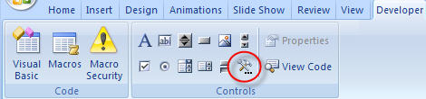 More Conbtrols in PowerPoint 2007