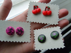 Button Earrings 1