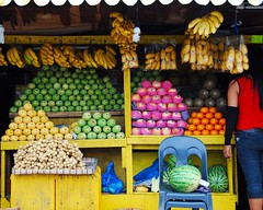 Fruit Stand (gogo159) Tags: colour frutas fruit philippines watermelon mercado bananas pineapple cebu apples fruitstand mangoes ponkan vegetales pomelo lanzones