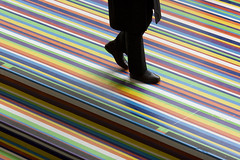 follow the line (jonnybaker) Tags: usa newyork colour art america catchycolors floor stripes moma footstep jimlambie zobop