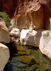A mountain stream in Morocco's Anti-Atlas range (Peace Correspondent) Tags: africa water pool beautiful d50 stream northafrica oasis morocco getty geology marokko antiatlas gettyimages mountainstream northernafrica fv15 5photosaday views1500 southernmorocco antiatlasmountains amtoudi southmorocco