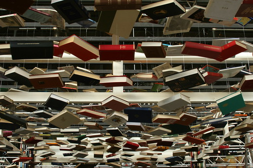Hanging books by timtom.ch, on Flickr