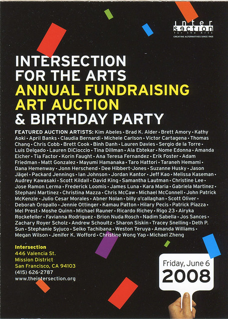 Intersection for the Arts: Auction 2008