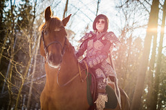 Dragonborn (Elderx Photography) Tags: dragonborn skyrim cosplay winter horse
