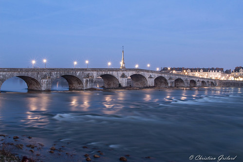 Blue hour : Blois (France)