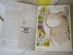 journal pages 21 - 22 (this chicken) Tags: notebook journal characterdesign wildbeast visualdiary journal2009 journalsummer2009