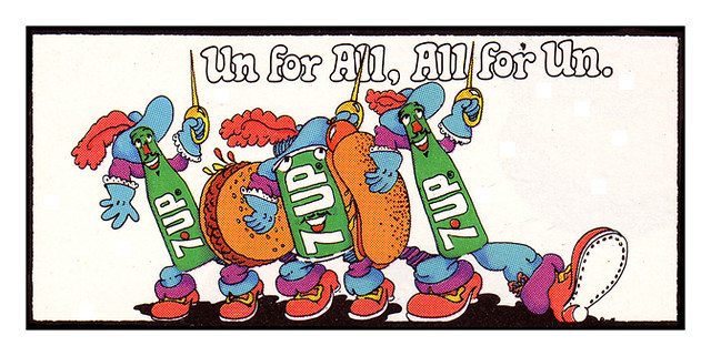 7Up_Un for All, All for Un_vintage UnCola billboard poster signed by Pat Dypold