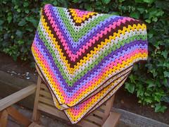 Blanket #2 Finished!!! (Naiyaru) Tags: colors square diy crochet creative blanket granny crafting hooked