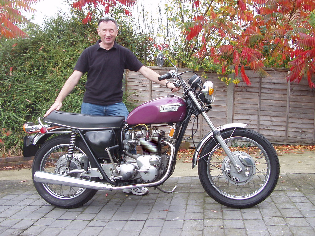 Dave with 1972 Triumph T150V Trident in October 2007