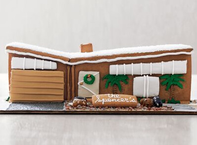modern gingerbread house