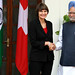 Indian Prime Minister Manmohan Singh with Switzerland's President Micheline Calmy-Rey
