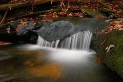Slate Rock Creek (Casteel) Tags: longexposure autumn water nc stream northcarolina hike northmillsriver 20071110 slaterockcreek pilotcove