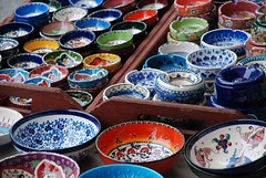 Turkish Bowls - colourful and microwave safe!