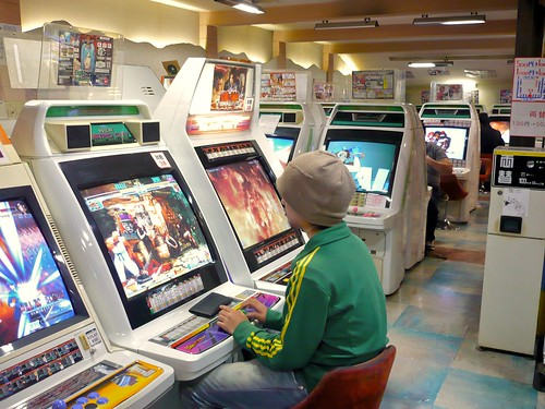 Arcade gamer in Tokyo