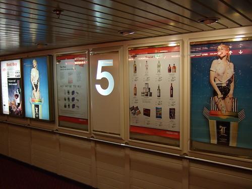 Posters aboard M/S Mariella