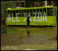 Jazda (Jerzy Durczak) Tags: green rain tram poland polska lodz łódź manufaktura jurekd superbmasterpiece