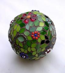 Flower garden sphere (stiglice - Judit) Tags: mosaic mosaique mozaiek mozaik