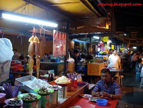 Sotong Kangkung stall