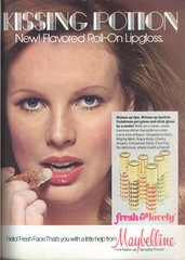 Maybelline Kissing Potion (twitchery) Tags: vintage makeup lips 80s 70s gloss lipstick maybelline vintageads smackers vintagebeauty kissingpotion