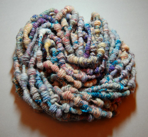 Abalone supercoiled yarn