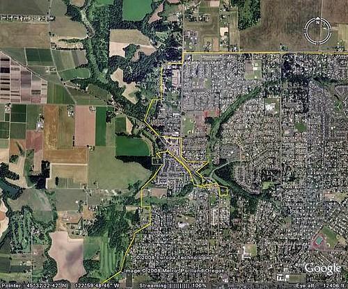 Hillsboro, Oregon, outside Portland, and bordering farmland