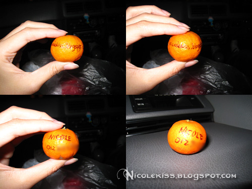name on oranges x 4