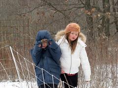 Aidan & Jesse (artdduck) Tags: snow nature outdoors chldren