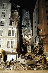 Falling crane crushes NYC buildings (noamgalai) Tags: nyc house ny newyork building giant photography march photo construction apartment crane crash picture saturday 2nd photograph collapse block 51 kills 50th fubar allrightsreserved sitenews   2ndave photomania 4people  foodbar noamg devastates noamgalai   wwwnoamgalaicom fubarnyc