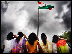 Proud to be Indian Girls (zinal.patel) Tags: girls india nid women missing flag indian salute pride national million 50 zinal tiranga 50millionmissing pcafestivity