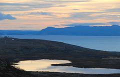 Varangerfjorden, Finnmark, EXPLORE (GeirB,) Tags: blue autumn light sky lake water norway clouds geotagged nice nikon heaven mirrorlake arctic explore fjord d200 nikkor finnmark varanger bltime bluetime totalphoto vadsoe diamondclassphotographer goldolivebranch