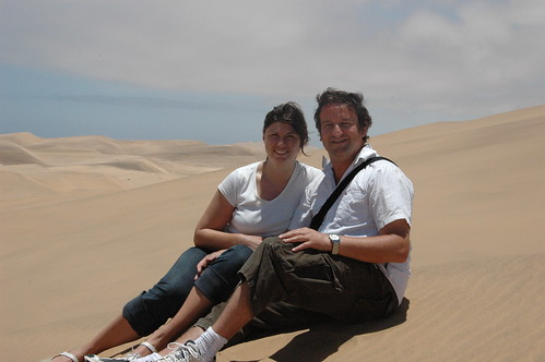 Lorna & Me on a dune (by Louis Rossouw)