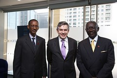 Presidents Kagame and Kufour with the PM (Downing Street) Tags: brown prime gordon pm minister primeminister gordonbrown kagame kufour