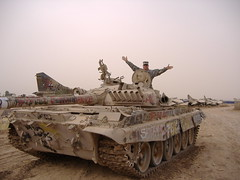 Yogi on T-72 at Balad