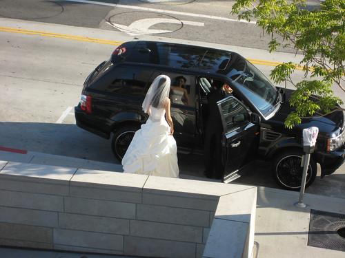 bride at Disney Hall
