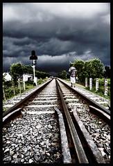 Way to Dreamland (Tipu Kibria~~BUSY~~) Tags: sky man clouds canon eos village dream fabulous bangladesh railtracks tangail xti canon1785mmisusm golddragon flickrcolour 400d aplusphoto diamondclassphotographer flickrdiamond excapture flickrestrellas qualitypixels grouptripod shudhuibanglamirjapurvromon