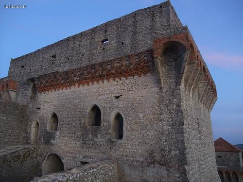 Tijolos encarnados da torre