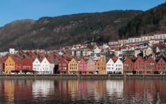 Bryggen from across the harbor (_quintin_) Tags: bergen norway bryggen harbor