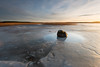 Puddle on ice (- David Olsson -) Tags: mörudden hammarö skoghall värmland sweden lake vänern ice winter wintry frozen sunset sundown puddle rock stone boulder landscape seascape nature outdoor reed nikon d800 1635 1635mm 1635vr vr fx davidolsson february februari 2017 leefilters 06hard gnd grad