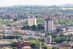 South #Bristol Cityscape (Joe Dunckley) Tags: bedminster brandonhill bristol cabottower england mendip mendiphills northsomerset somerset southbristol uk architecture building councilestate fromabove highrise house housing socialhousing summer sunny terracedhouse tower towerblock