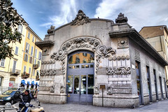 The first cinema in Milan (Fil.ippo) Tags: cinema milan liberty milano artnouveau hdr filippo dumont d5000 impressedbeauty