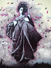 Ever she comes on a mountain breeze (Fin DAC) Tags: streetart france stencil urbanart geisha brest dac fin stencilart finbarr dragonarmourycreative finbarrnotte finbarrdac findac nicolewu crimesofminds