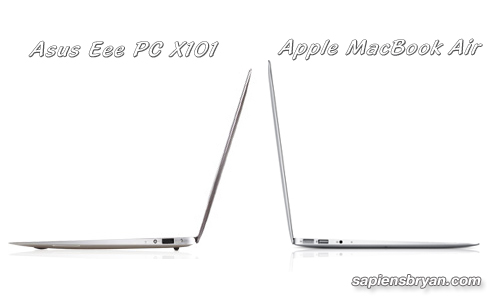 Asus Eee PC X101 Compare With Apple MacBook Air