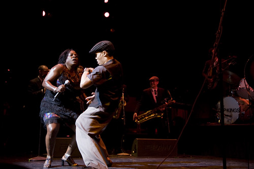 Me dancing at the Apollo with Sharon Jones!