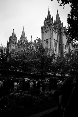 conference attendees and the SLC Temple
