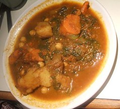 Spinach stew