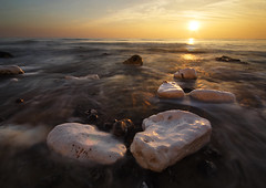 Wet Shoes (lowbattery) Tags: ocean sunset sea mist water clouds rocks long exposure eastbourne birlinggap beachhead platinumphoto anawesomeshot megashot
