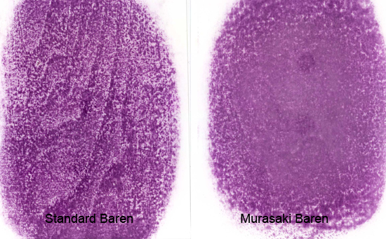 Comparison of Standard and Murasaki Barens - Marks