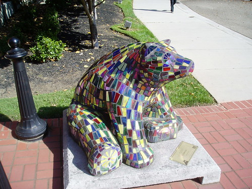 stained glass bear